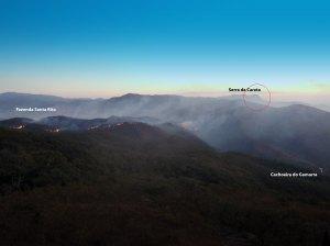 O fogo atingiu mais de 200 ha