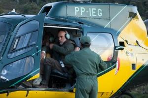 Primeiro voo de reconhecimento e avaliação do helicóptero do IEF/SEMAD