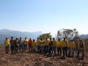 Brigada Matutu. após o controle do incêndio no Pinheiral